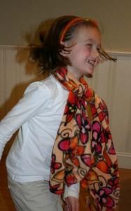 Fun fleece scarf