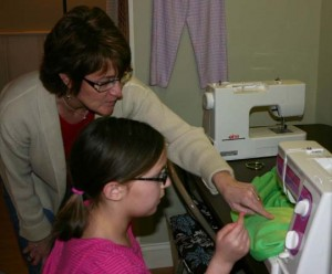 sewing badge: girl scouts