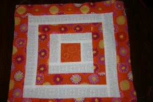 One of the brightly colored squares